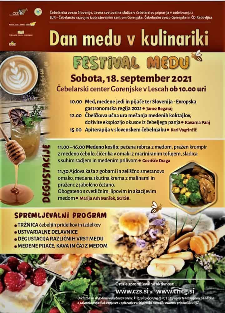 Festival medu in Dan medu v kulinariki